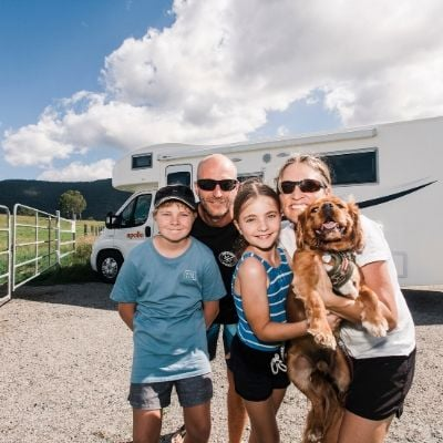 Apollo motorhome and family